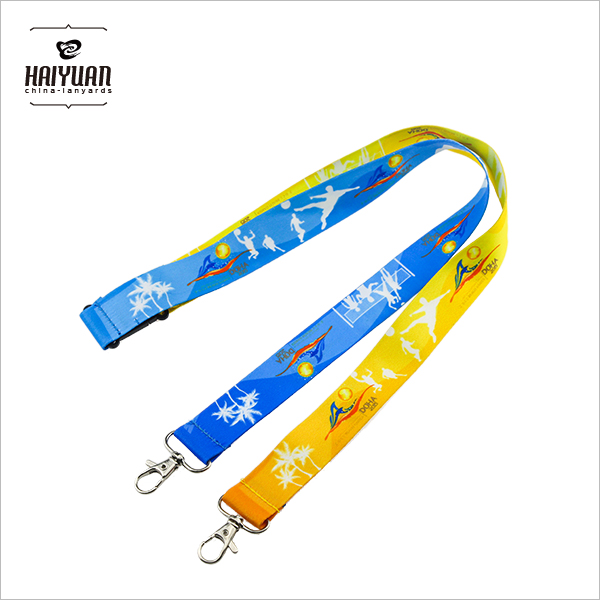 Personalized Sublimation Printed Double Hook Lanyard