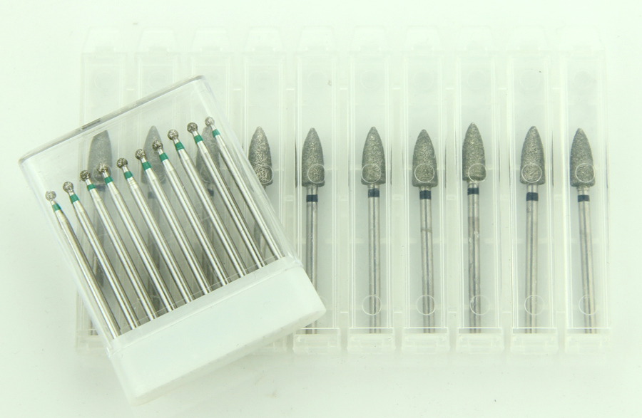 001-035m Round Shape Medium Grit Diamond Coating Denture Burs
