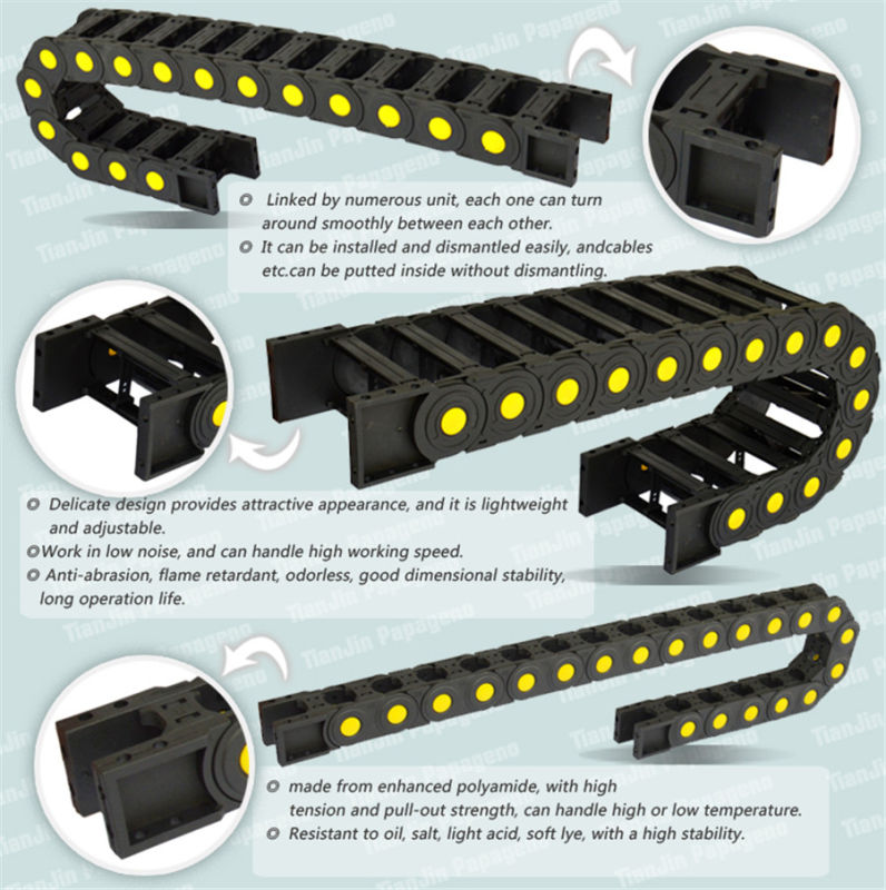 Plastic Engineer Cable Drag Chain Carrier