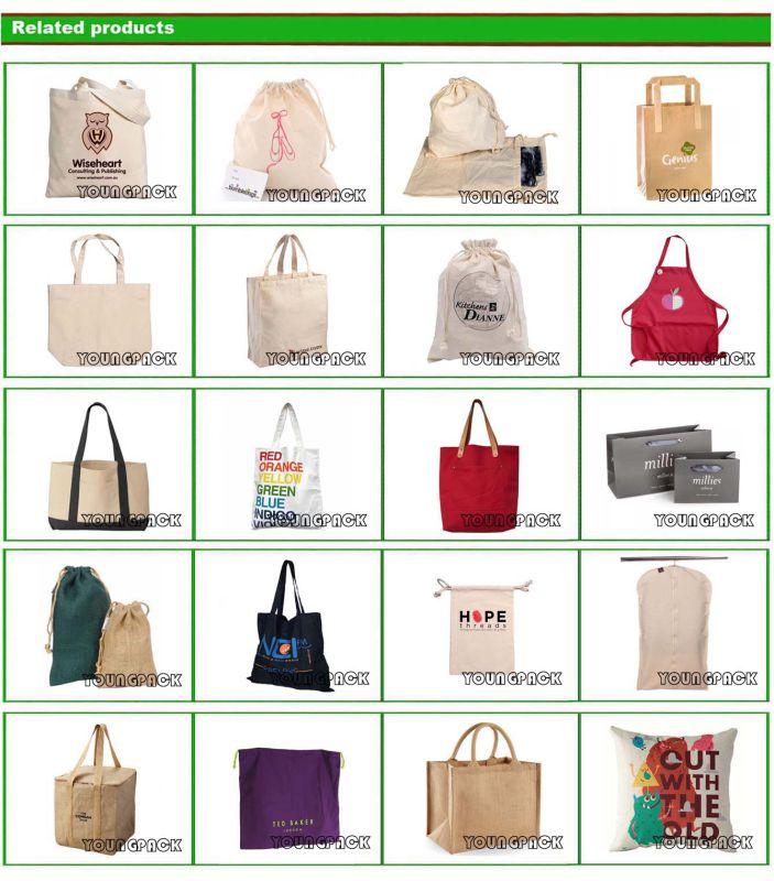 Promotional Custom Reusable 100% Natural Cotton Canvas Shopper Bag