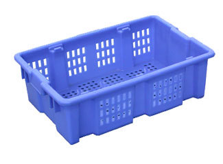 Y180 Reversible Piled Mesh Stackable Plastic Crate