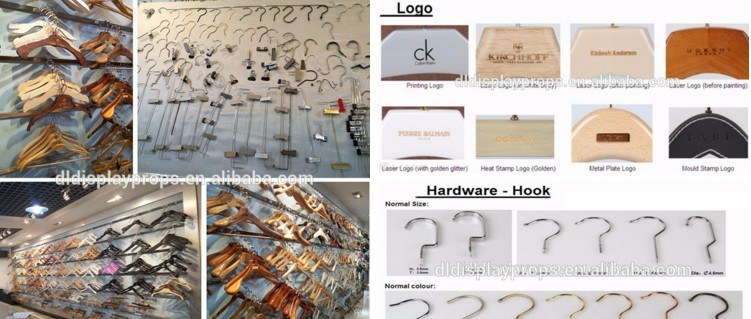 High Quality Wooden Pants Hanger with Metal Clips on Sale