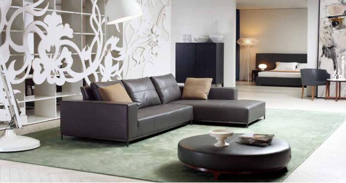 Modern Style Corner Genuine Leather Sofa