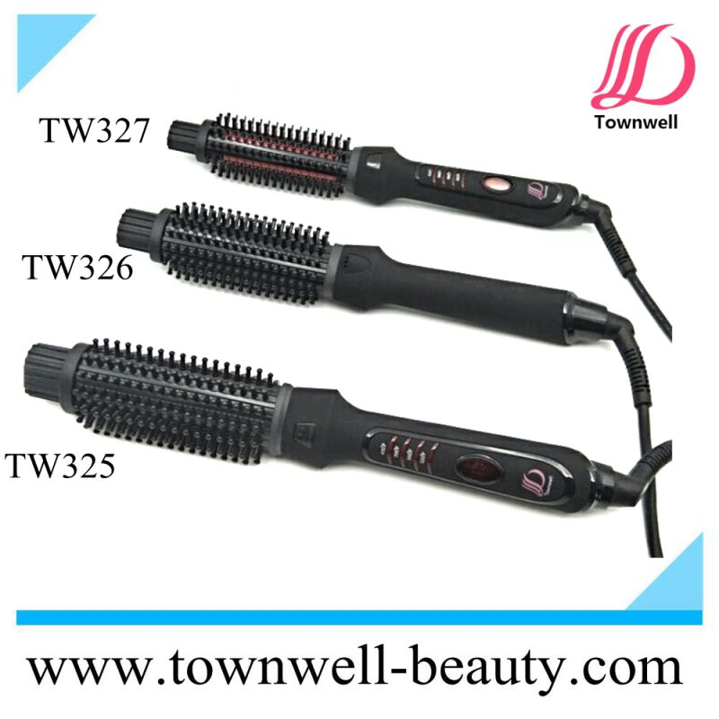 Negative Ion Electric Hair Brush with Different Barrel Sizes