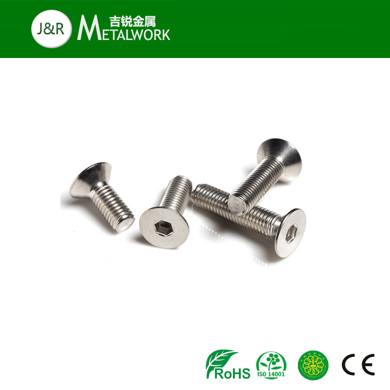 Stainless Steel Hex Socket Countersunk Head Screw with Full Thread