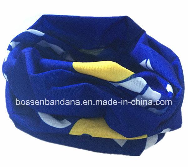 OEM Produce Customized Logo Printed Promotional Sports Blue Bandanna Head Scarf Buff