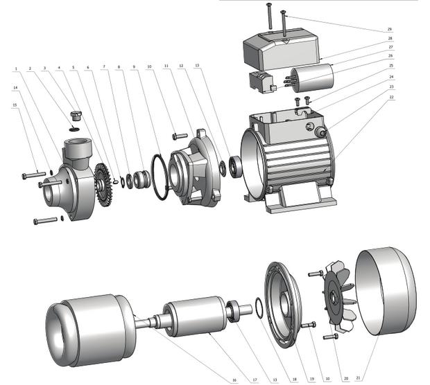 High Efficiency Peripheral Pump (TQ60)