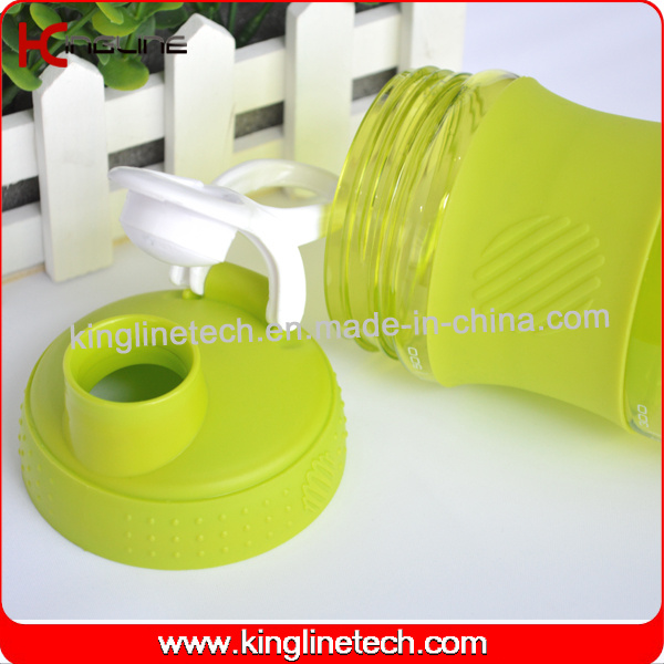 500ml Plastic Protein Shaker Bottle with Stainless Blender mixer Ball (KL-7064)