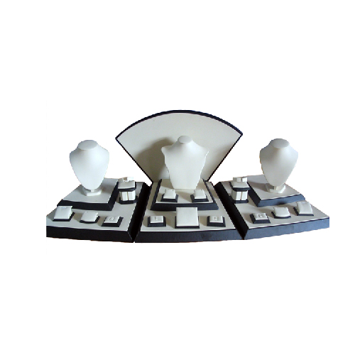 Contertop White Jewelry Windows Display Sets Portable Wholesale