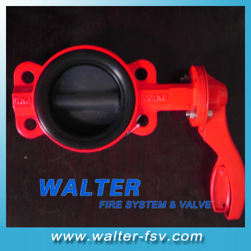 Fire-Fighting Cast Iron Handlever Wafer Butterfly Valve