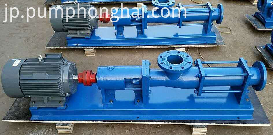 cast iron material single screw pump
