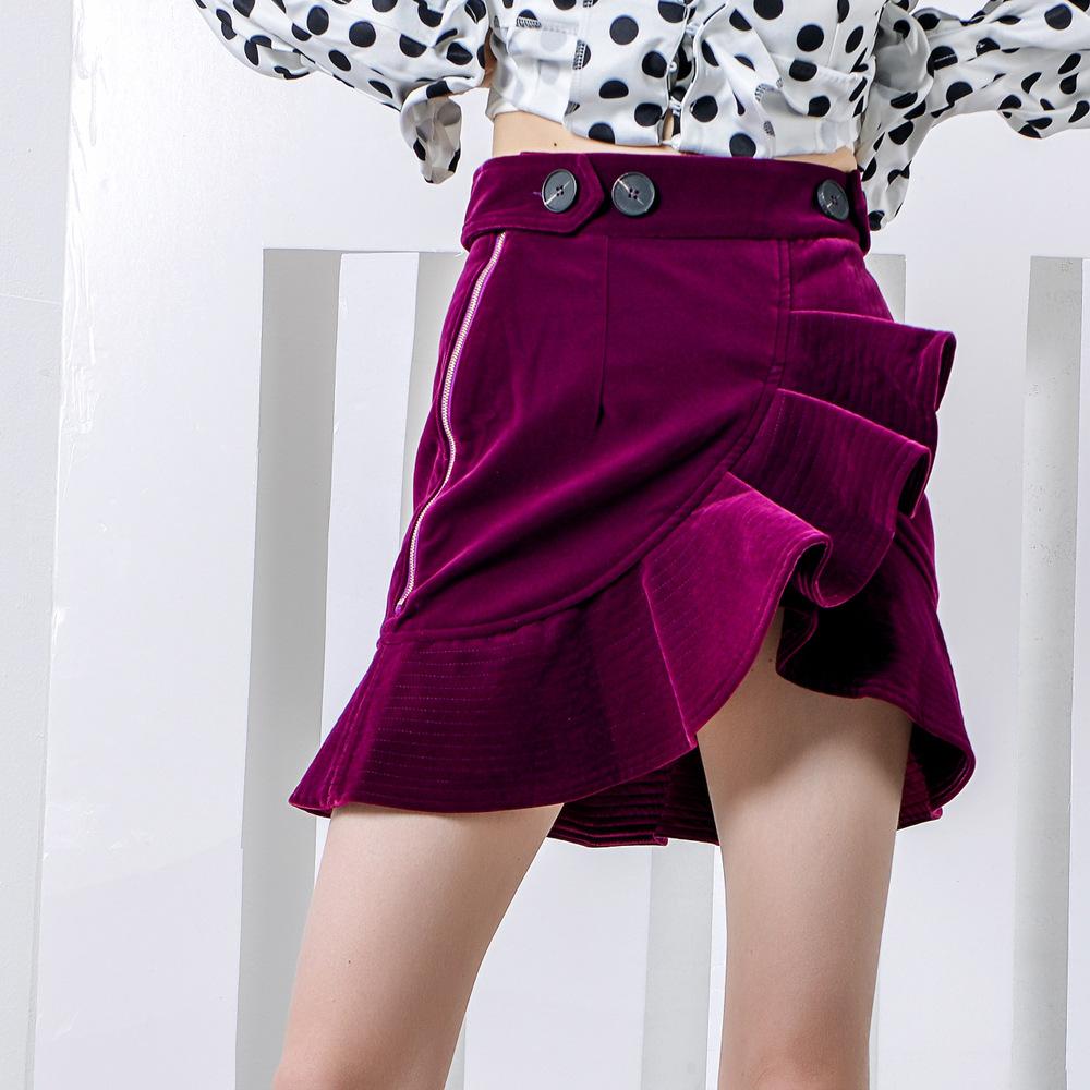 Velvet Short Skirt