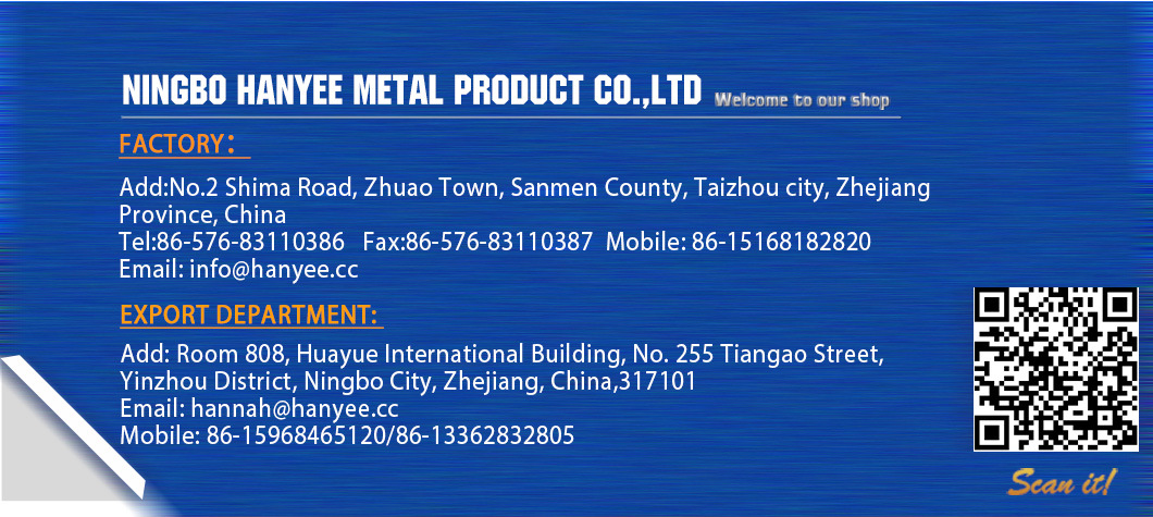 Hanyee Building Hardware Nikel Plated Step Nut