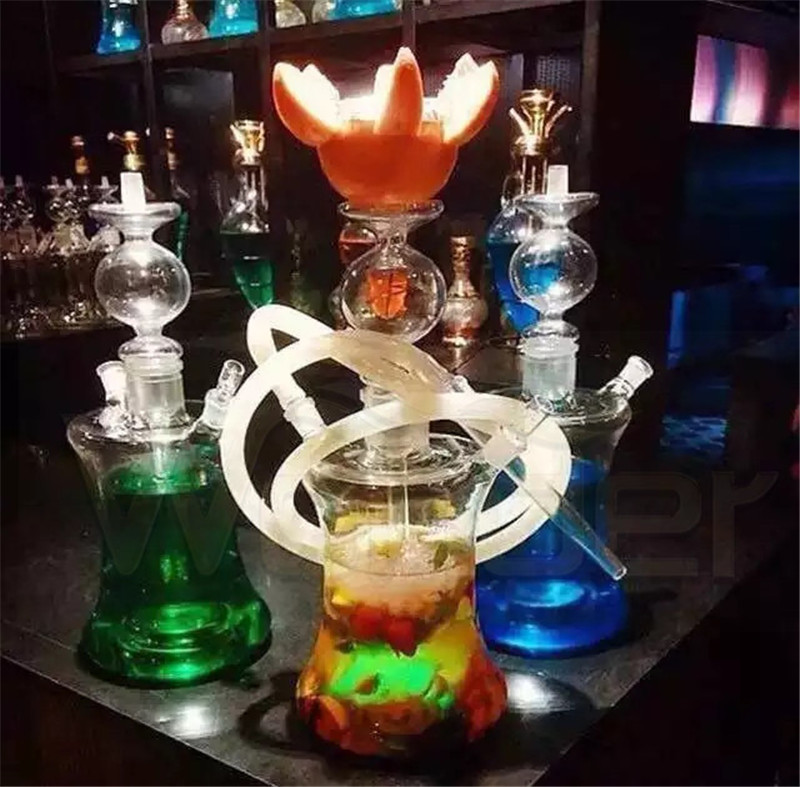 Glass Hookahs with Leather Case Provide Sample