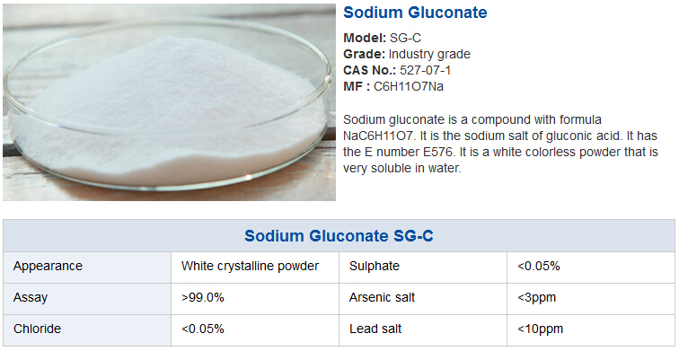 Scale Inhibitor/Cleaning Agent Industrial Grade Sodium Gluconate MSDS