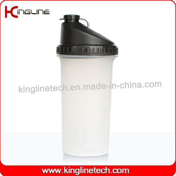 BPA Free, 700ml Plastic Protein Shaker Bottle with Filter (KL-7013B)