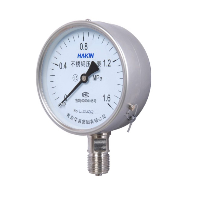 100mm China Top Quality Stainless Steel Pressure Gauge Auto Accessory