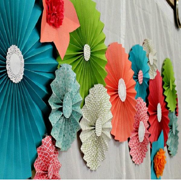 Friendly Eco Paper Fan Wedding for Wall