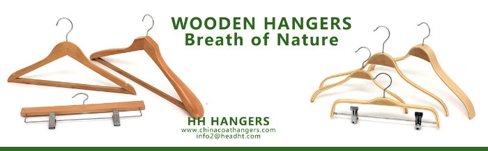 White Wood Regular Clips Hanger with /Without Notches