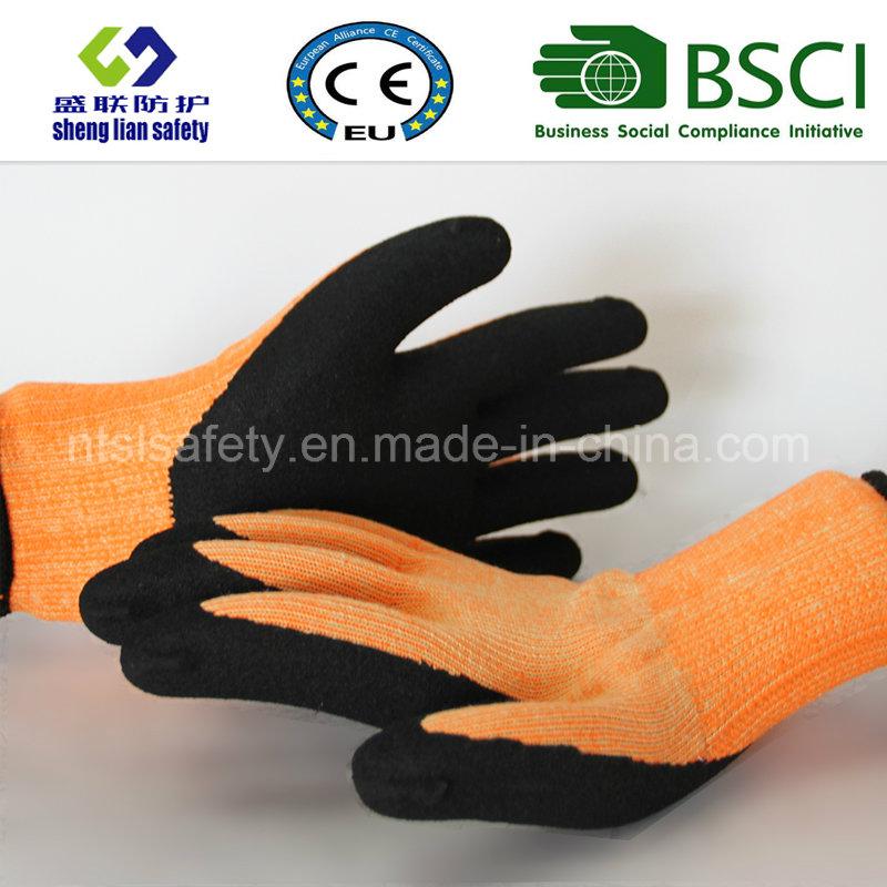 Nitrile Coating, Sandy Finish Safety Work Gloves (SL-NS118)