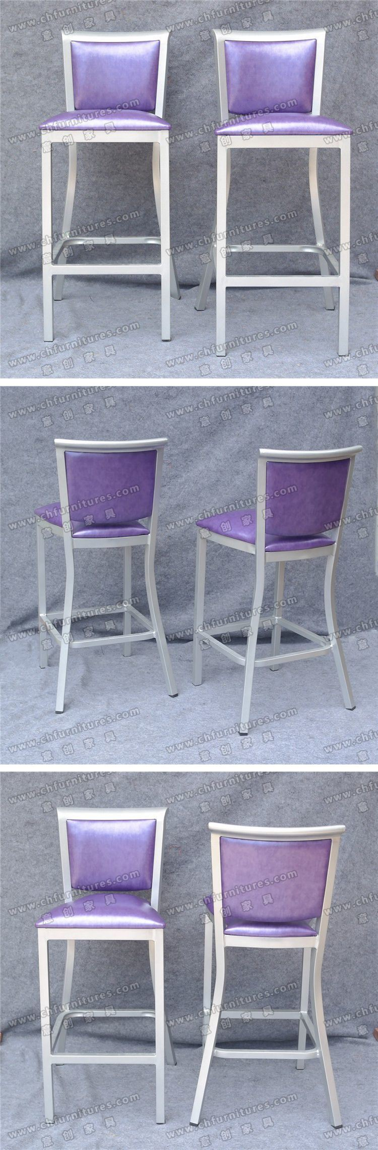 Purple Leather Bar Chair for House Decoration Yc-H003-11