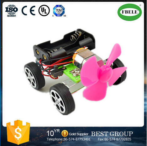 DIY Wind Power Mini Car Science and Technology Manufacture Model for Education