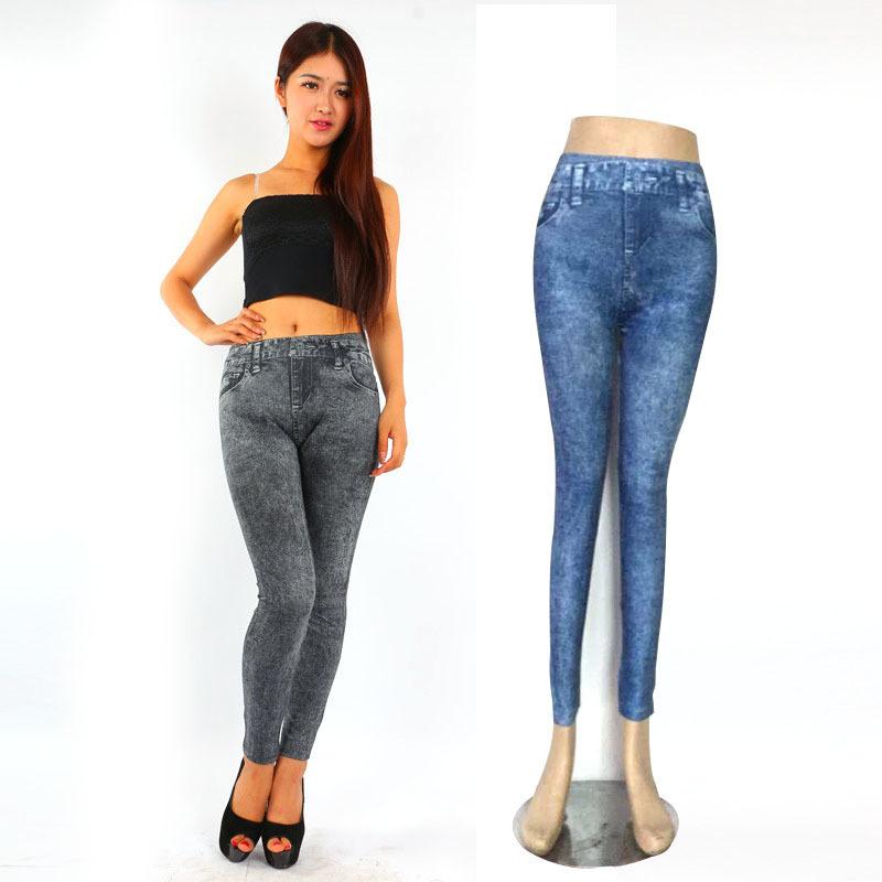 Woman 95% Polyester 5% Spandex Fitness Jean Leggings