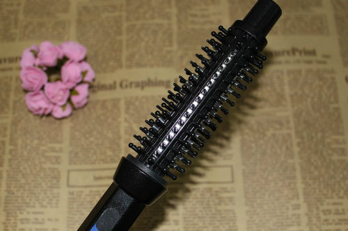 Electric Hair Straightening Comb Curler Brush