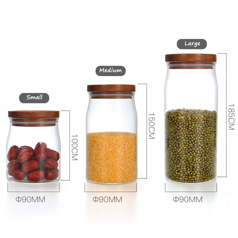 Food Storage Container Vacuum Glass Storage Jar