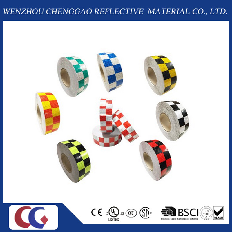 Blue/White Grid Design Reflective Conspicuity Tape (C3500-G)