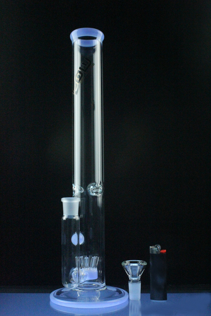 Straight Tube Glass Smoking Water Pipe with Sprinkler Perc (ES-GB-577)