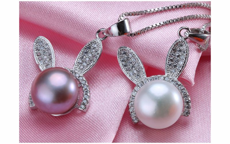 Real Freshwater Pearl Pendant 10-11mm Button Pearl Single Fashion Pearl Pendant