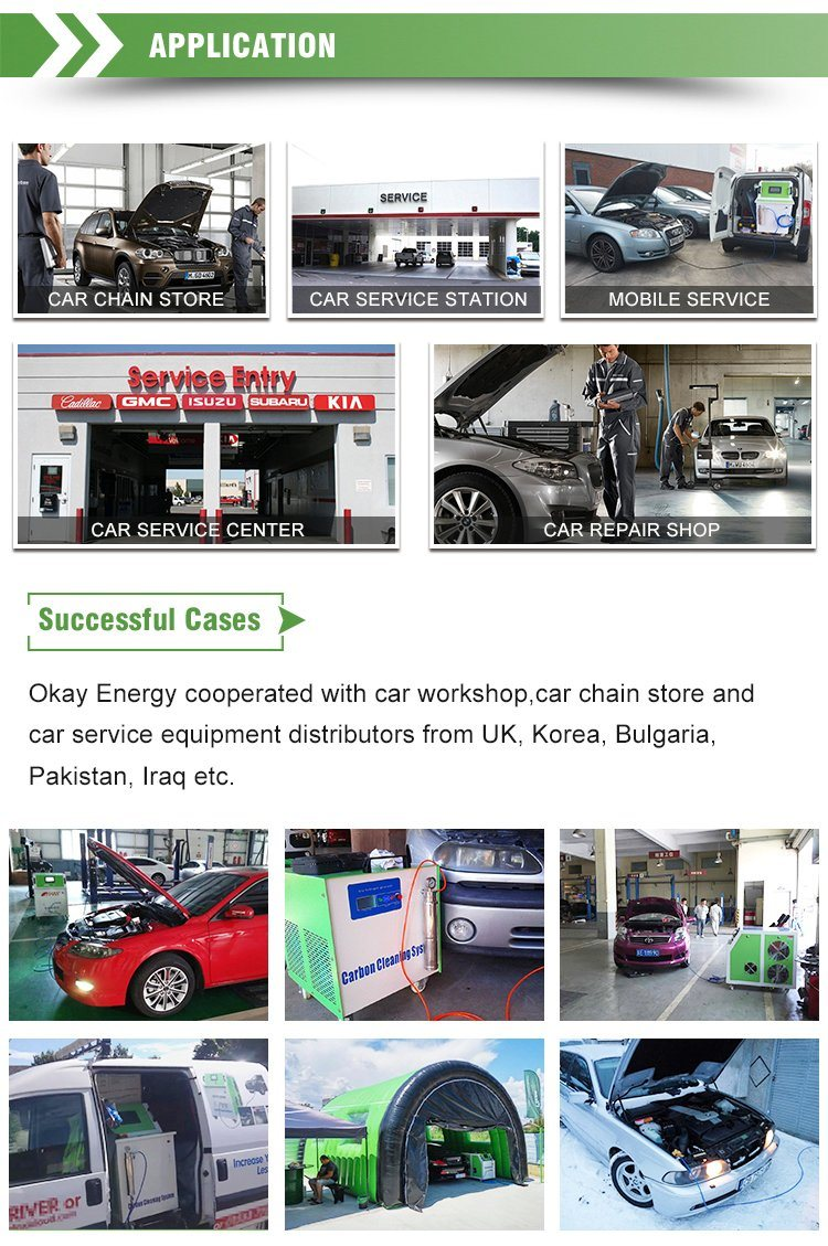Car Care Products Cleaner Hho Engine Flush Fuel System Decarbonizer Machine
