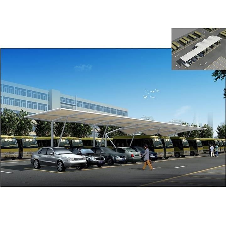 Architecture Tensile Membrane Structure Fabric Car Parking
