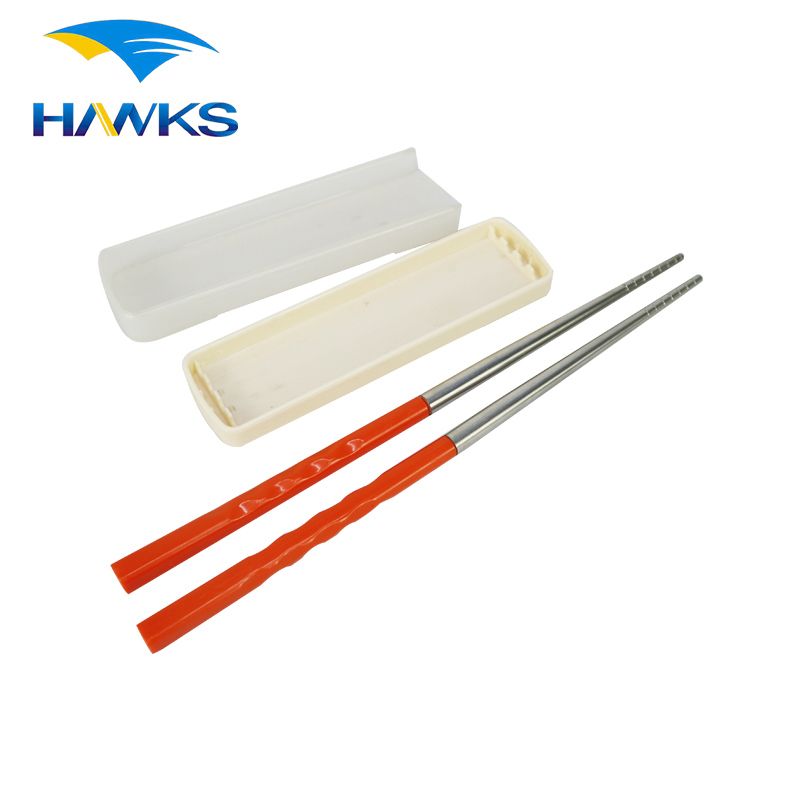 CL1Y-CS210 Camping Stainless Steel Folding Chopsticks Portable Chopsticks