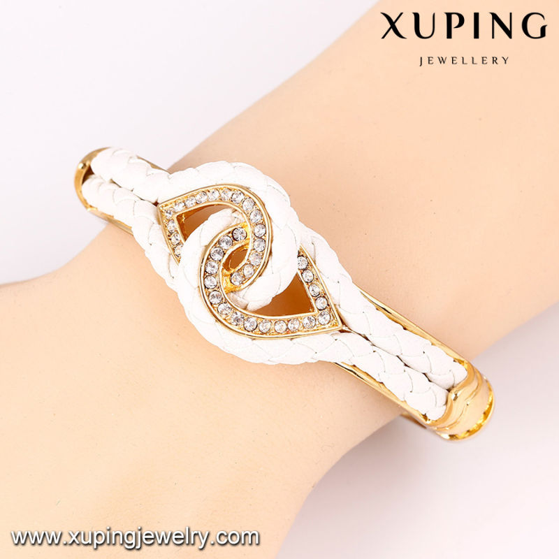 Bangle-64 Fashion Nice Rhinestone Jewelry Wrap Bangle in Gold-Plated