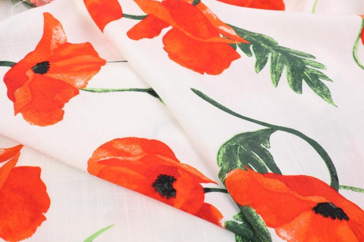 100% Viscose Slub Printed&Dyed Fabrics