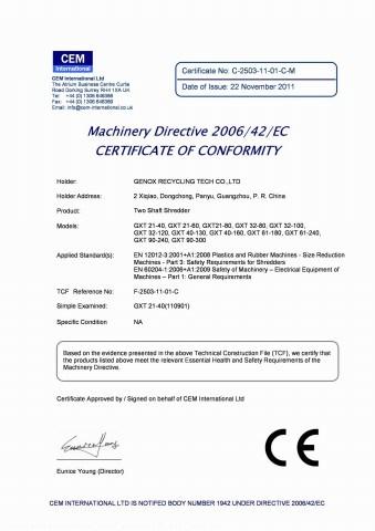 Gran-Calibur (GC Series) Granulator (GC1000)