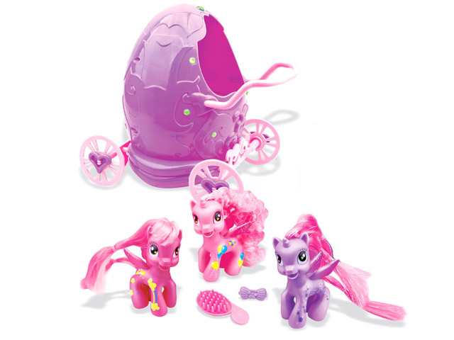 Girl's Toy Soft Plastic Horse in Egg Carriage Promotion Gift (H0839018)