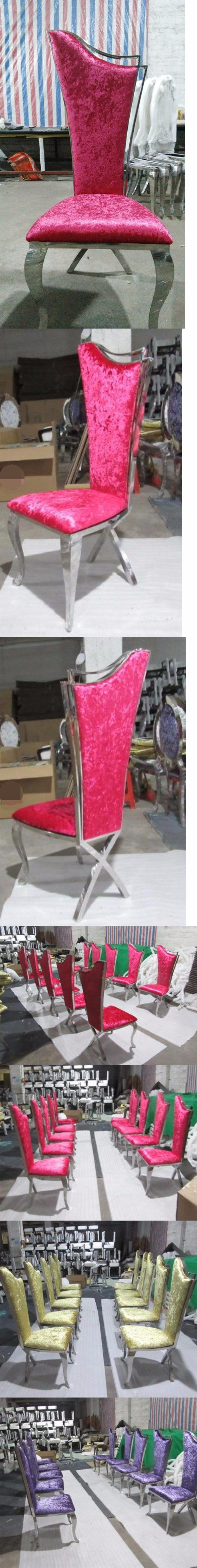 Luxury Dining Room Furniture Stainless Steel Furniture Dining Chair Wedding Chair Banquet Chair Hotel Chair