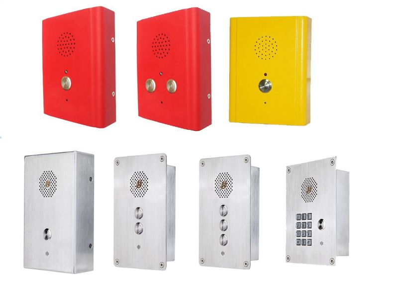 Door SIP Phone, Elevator Intercom, Handsfree Vandalproof Telephone