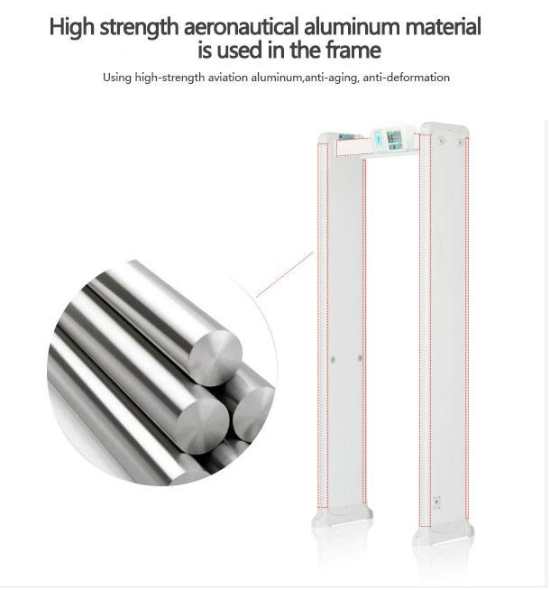 Factory Price Four Infrared Zones Door Fame Metal Detector, Detection Regions Walk Through Metal Detector