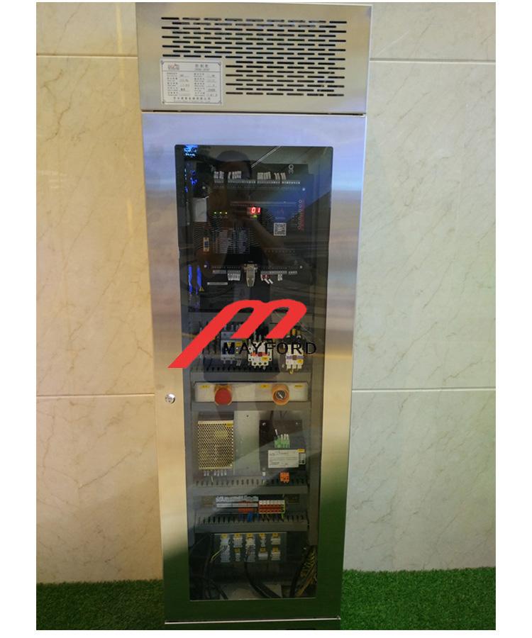Square Shape Glass Panoramic Elevator with Machine Room