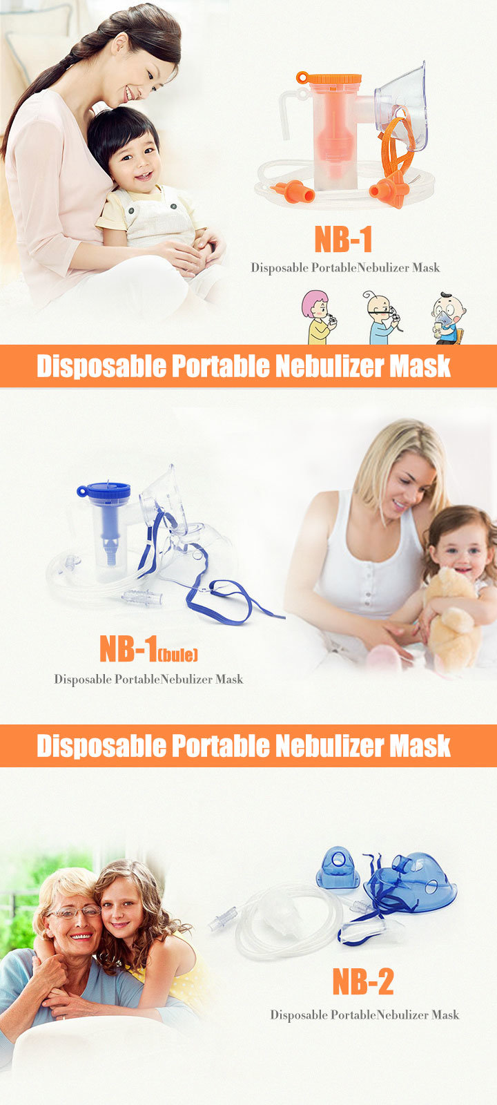 Medical/Home Care Nebulizer Mask with Oxygen Tubes