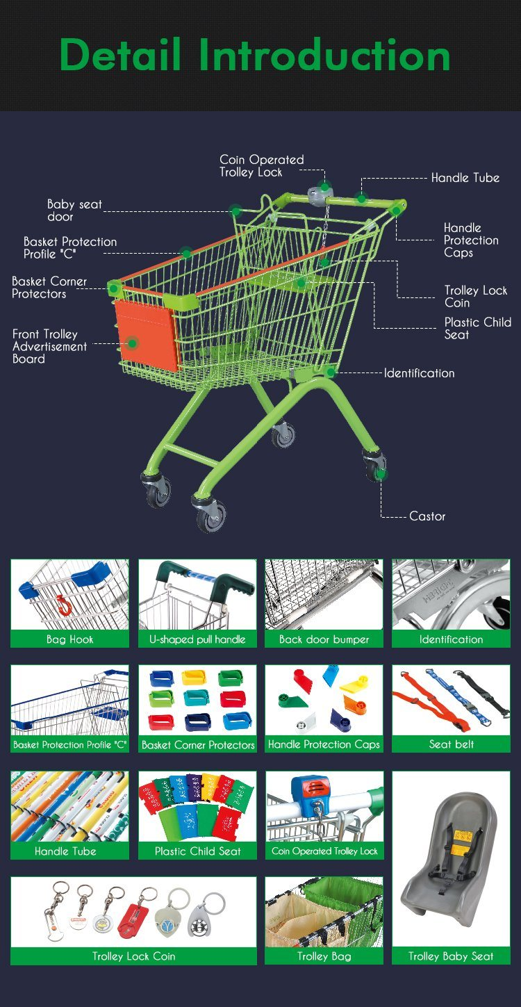 Handicapped Cart Supermarket Shopping Cart for Disabled People