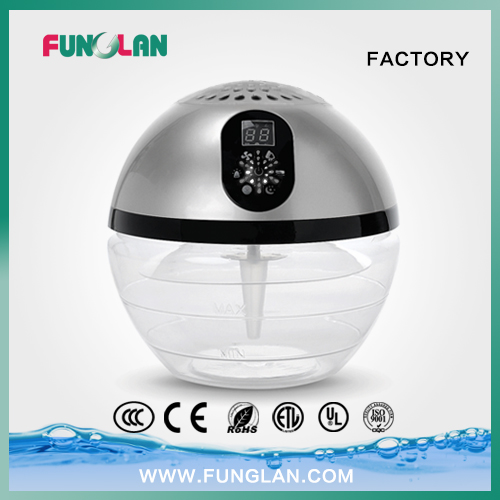 Household LED Lighted Globe Water Air Purifier for Home