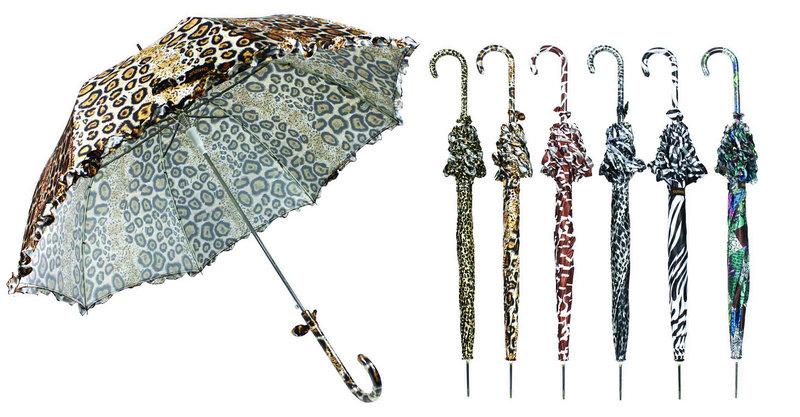 Animal Skin Skirt Windproof Compact Umbrella (YS-3FA22083906R)