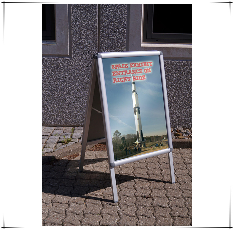 Sign Board Aluminum Poster Display Stand Snap Frame