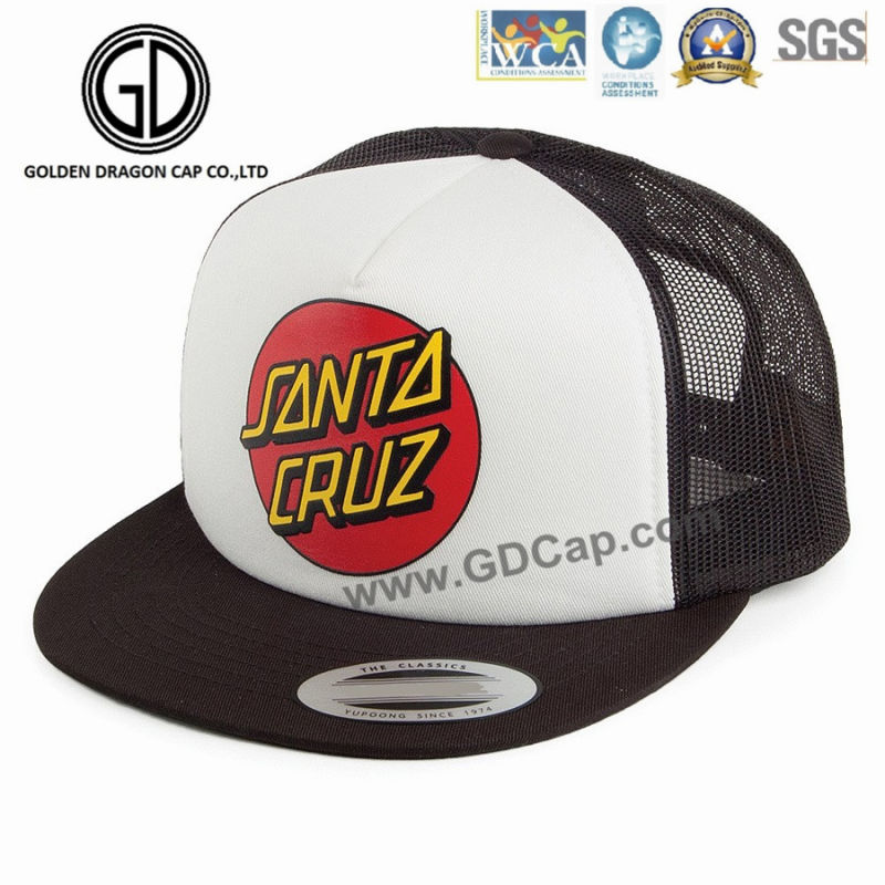 Classic Foam Snapback Baseball Hip-Hop Caps with Embroidered Logo Mesh Back