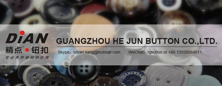 4 Hole Round Rim Black Horn Buttons for Business Suits 24L & 32L